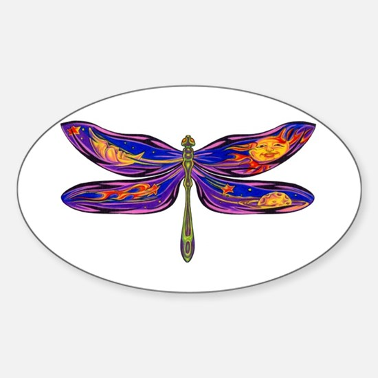 Celestial Fantasy Dragonfly Oval Decal