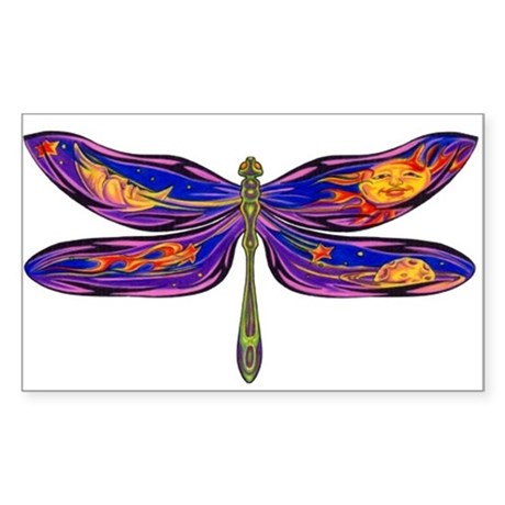 Celestial Fantasy Dragonfly Rectangle Sticker