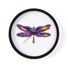 Celestial Fantasy Dragonfly Wall Clock