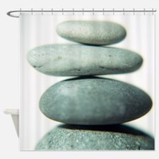 Stacked pebbles - Shower Curtain
