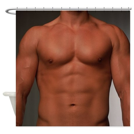 Male Torso   Shower Curtain