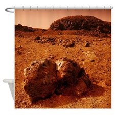 Martian landscape - Shower Curtain