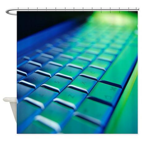 Computer keyboard - Shower Curtain
