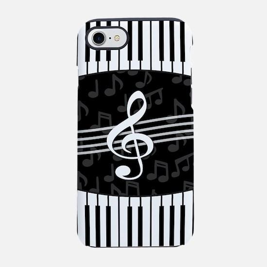 Stylish designer piano and mus iPhone 7 Tough Case