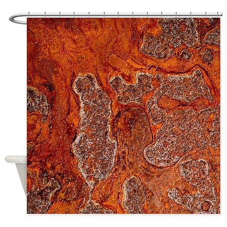 Rust seen on a steel sheet - Shower Curtain