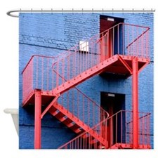 Fire escape staircase - Shower Curtain