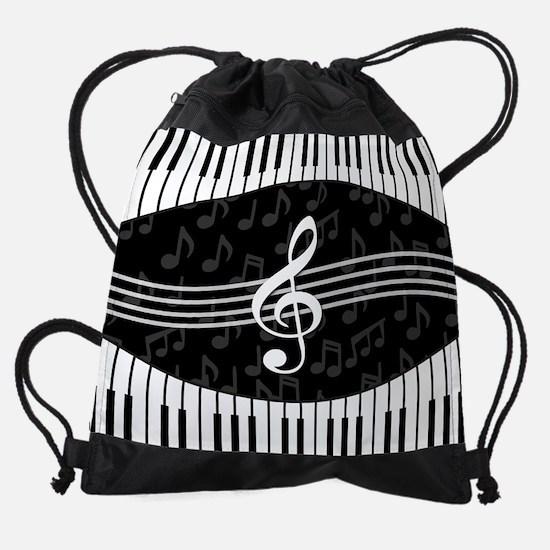 Stylish designer piano and music no Drawstring Bag