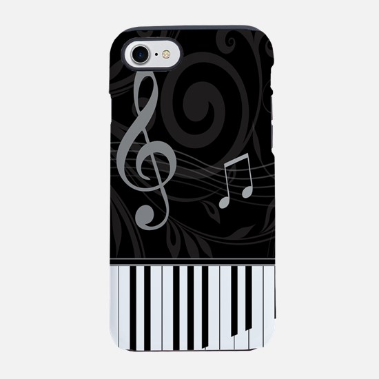 Whimsical Piano and musical no iPhone 7 Tough Case