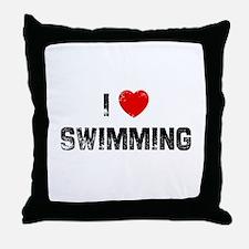 I * Swimming Throw Pillow