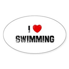 I * Swimming Oval Decal