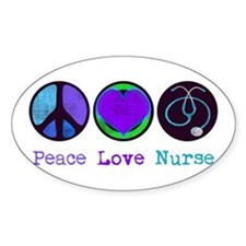 Peace Love Nurse Stickers
