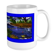 Boy Cane Fishing Mug