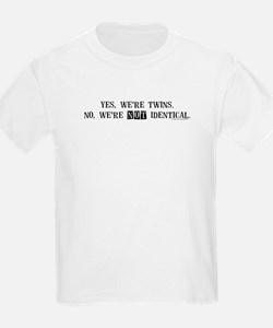 Yes, we're twins Kids T-Shirt