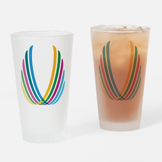 Color Ribbons Drinking Glass