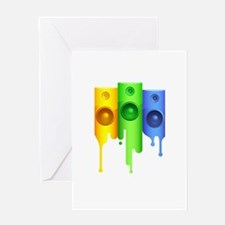 Color Speakers Greeting Card