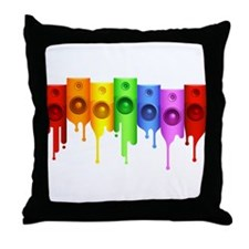 Color Speakers Throw Pillow