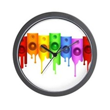 Color Speakers Wall Clock