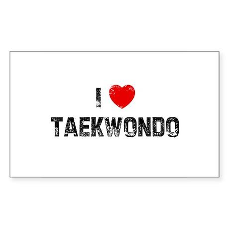 I * Taekwondo Rectangle Sticker