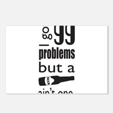 99 problems but a beer aint one Postcards (Package