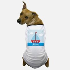 Personalizable Sailboat in the Sea Dog T-Shirt
