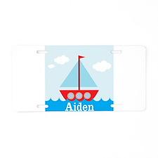 Personalizable Sailboat in the Sea Aluminum Licens