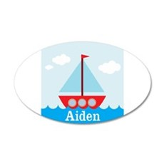 Personalizable Sailboat in the Sea Wall Decal