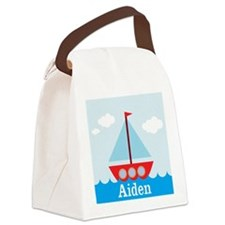 Personalizable Sailboat in the Sea Canvas Lunch Ba