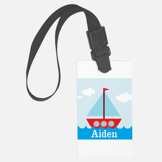 Personalizable Sailboat in the Sea Luggage Tag