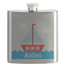 Personalizable Sailboat in the Sea Flask