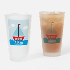 Personalizable Sailboat in the Sea Drinking Glass