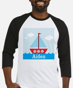 Personalizable Sailboat in the Sea Baseball Jersey