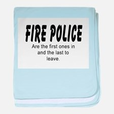 Fire police baby blanket