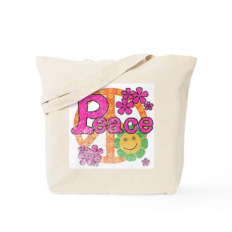 Vintage Peace Tote Bag