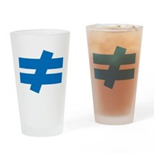 Not Equal Drinking Glass