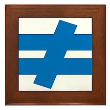 Not Equal Framed Tile