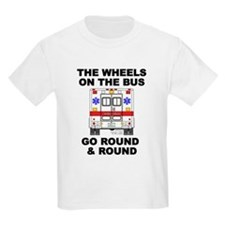 Ambulance Wheels Go Round Ash Grey T-Shirt