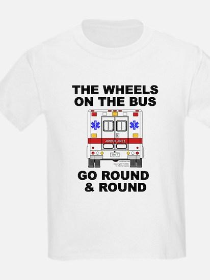 Ambulance Wheels Go Round Ash Grey T-Shirt