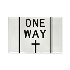 One Way: Jesus Rectangle Magnet
