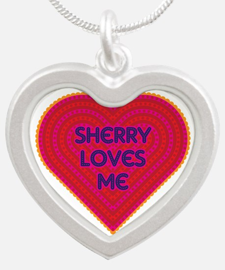 Sherry Loves Me Silver Heart Necklace