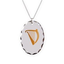 Harp Necklace Oval Charm
