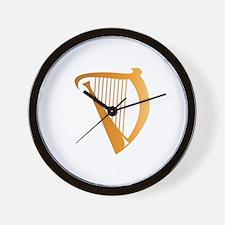 Harp Wall Clock