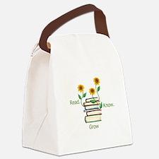 Sun Flowers Books Canvas Lunch Bag