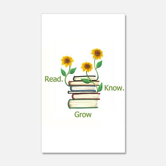 Sun Flowers Books Wall Decal