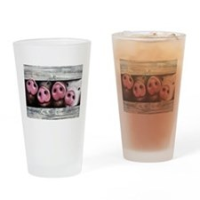 Four in a Row Drinking Glass