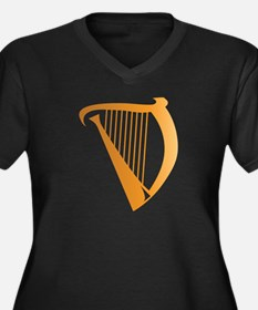 Harp Women's Plus Size V-Neck Dark T-Shirt