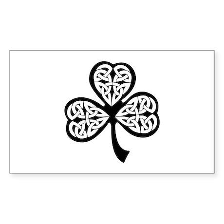 Celtic Shamrock Sticker (Rectangle)