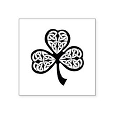 "Celtic Shamrock Square Sticker 3"" x 3"""