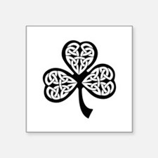 "Celtic Shamrock Square Sticker 3"" x 3"""