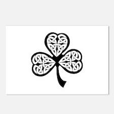 Celtic Shamrock Postcards (Package of 8)
