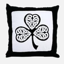 Celtic Shamrock Throw Pillow